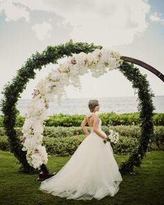 A gorgeous ceremony arch for this modern bride from Shanghai .⠀ Venue: with catering manager… Wedding Ceremony Arch, Wedding Altars, Wedding Stage, Wedding Ceremony Decorations, Wedding Centerpieces, Wedding Events, Dream Wedding, Wedding Catering, Wedding Arrangements