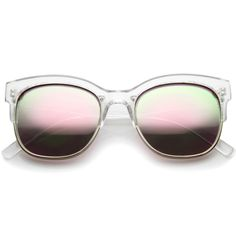 Translucent colorful half frame mirror lens sunglasses a249 ($14) ❤ liked on Polyvore featuring accessories, eyewear, sunglasses, retro style sunglasses, retro half frame glasses, multi colored sunglasses, lens glasses and translucent glasses