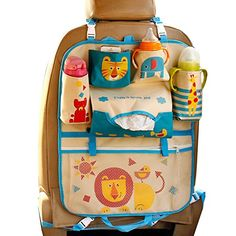 Car Backseat Organizer Kick Mats - Auto Seat Back Protector Kids Toy Storage Lion Car Seat Accessories, Car Accessories For Girls, Subaru, Jdm, Backseat Car Organizer, Ipad, Kid Toy Storage, Banquette, Of Brand