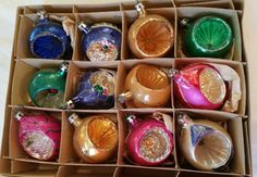 Vintage Mercury Glass Indent Ornaments One by KitschyMaowVintage
