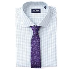 Tattersall Non-Iron Shirt Dress Shirts - White | Ties, Bow Ties, and Pocket Squares | The Tie Bar