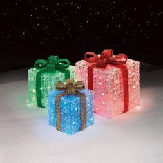 3 Light-Up Gift Box Decorations: Cheerful Holiday Ornaments From Sears