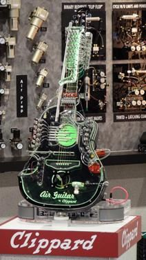 Pneumatically controlled guitar, a real air guitar.