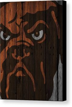 7871f4820 Cleveland Browns Canvas Print featuring the photograph Cleveland Browns  Wood Fence by Joe Hamilton Joe Hamilton