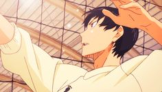 Can we talk about how pretty Kageyama looks in this gif