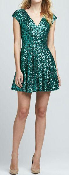 Emerald sparkle dress