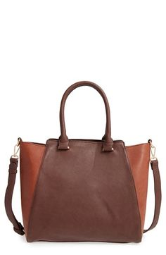 Free shipping and returns on Sole Society 'Jeanine' Satchel at Nordstrom.com. A structured and slightly flared silhouette enhances the contemporary-chic style of a spacious satchel that's sure to be a go-to for weekdays and weekends alike.