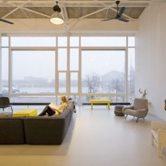 House Like Village is a minimal home located in Amsterdam, designed by Marc Koehler Architects.