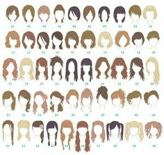 Hairstyles, girl, woman, text; How to Draw Manga/Anime
