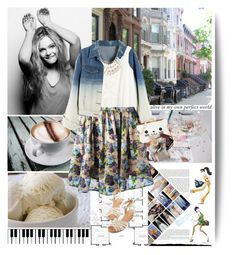 I was alive in my own perfect world. by muellermarie on Polyvore featuring H&M, Chicnova Fashion, MSGM, Seychelles, KLING, Prada and Barneys New York