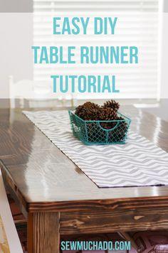 Easy DIY Table Runner Tutorial