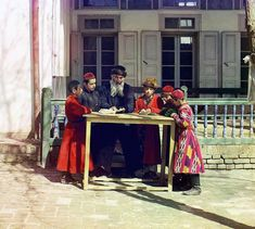1911 Samarkand, an ancient commercial, intellectual, and spiritual center on the Silk Road from Europe to China, developed a remarkably diverse population, including Tajiks, Persians, Uzbeks, Arabs, Jews and Russians. Samarkand, and all of West Turkestan, was incorporated into the Russian Empire in the middle of the 19th century and has retained its ethnic diversity. Here, Jewish boys in traditional dress study with their teacher.