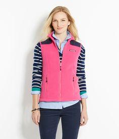 Shop Outerwear: Fleece Shep Shirt Vest for Women| Vineyard Vines- either color small or medium
