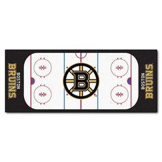 Boston Bruins Hockey Rink Runner Area Rug Floor Mat