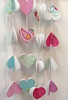 Paper garland. Heart Garland. Paper heart. Party by kC2Designs, $14.00