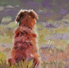 "Daily Paintworks - ""Waiting"" - Original Fine Art for Sale - © Karen Weber"