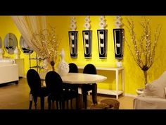 Dining Room:Modern Bright Dining Room Interior Designing Ideas With Stands Free . Dining Room:Modern Bright Dining Room Interior Designing Ideas With Stands Free Glossy Teak Dining Dining Room colors Yellow Interior, Interior Paint Colors, Room Interior, Interior Painting, Modern Interior, Yellow Dining Room, Bright Dining Rooms, Room Wall Colors, Paint Colors For Living Room