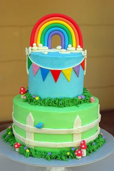 Rainbow Baby Shower Cake by Sweet Fix, via Flickr