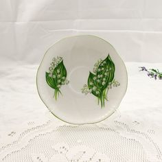Shelley Orphan Saucer, Lily of the Valley, Replacement Saucer, Saucer ONLY, No Tea Cup