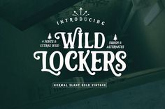Lockers 50%off by fontasticlab on @creativemarket