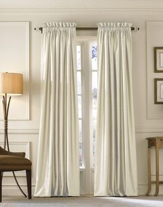 7 Noble ideas: Very Long Curtains very long curtains.Blackout Curtains Diy curtains ideas with blinds. Silk Curtains, Cheap Curtains, Long Curtains, Curtains Living, Curtains With Blinds, Curtain Panels, Window Curtains, Curtain Types, Cheap Blinds