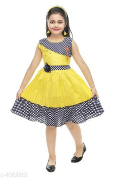 Checkout this latest Frocks & Dresses Product Name: *Doodle Classy Cotton Kid's Girl's Frocks* Fabric: Cotton Sleeve Length: Sleeveless Pattern: Printed Multipack: Single Sizes: 1-2 Years, 2-3 Years, 3-4 Years, 4-5 Years, 5-6 Years, 6-7 Years Country of Origin: India Easy Returns Available In Case Of Any Issue   Catalog Rating: ★4 (1753)  Catalog Name: Cute Stylish Girls Frocks CatalogID_576406 C62-SC1141 Code: 772-4062251-636
