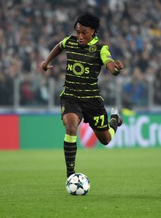 Gelson Martins of Sporting CP in action during the UEFA Champions League group D match between Juventus and Sporting CP at Juventus Stadium on October 18, 2017 in Turin, Italy. - 65 of 204