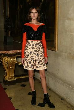 09a3a7c51153ff Quirky: Alexa Chung displayed her idiosyncratic fashion credentials as she  attended the Christian Dior Cruise show at Blenheim Palace on Tuesday