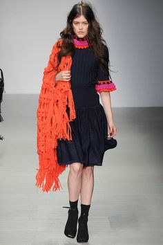 Modern knitting from the runway. Knitted dress.  Sister by Sibling Fall 2014 Ready-to-Wear Collection Slideshow on Style.com