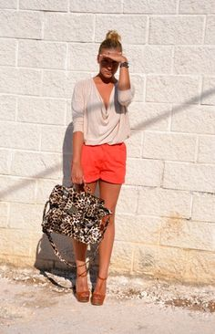 peach, coral, and print = perfection