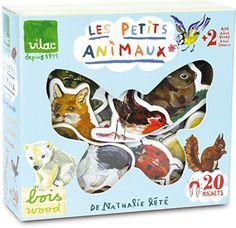 VILAC houten dieren magneten Nathalie l'Eté €15