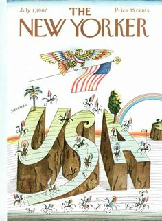 The New Yorker, illustration: Saul Steinberg.