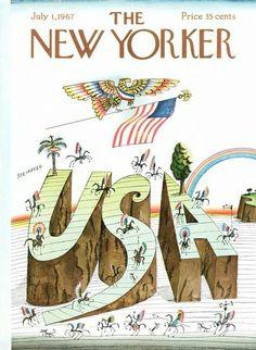 The New Yorker, illustration: Saul Steinberg.