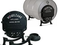Black Friday 2014 Vogelzang Deluxe Barrel Stove Kit from Vogelzang Cyber Monday 30 Gallon Drum, Fire Pit Heater, Shop Heater, Barrel Stove, Mini Stove, Appropriate Technology, Steel Barrel, Wood Fired Oven, Rocket Stoves