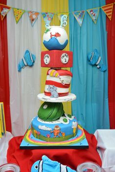Dr Seuss Topsy Turvy Cake Cakes and Cupcakes for Kids birthday