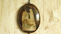 Antique French religious item pilgrim pilgrimage souvenir