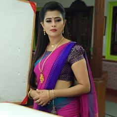Beautiful And Gorgeous . Beautiful Girl In India, Most Beautiful Indian Actress, Beautiful Saree, Beautiful Actresses, Stylish Blouse Design, Fancy Blouse Designs, Pattu Saree Blouse Designs, India Beauty, Beauty Women
