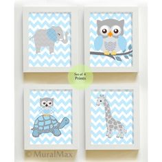 Elephant Nursery Wall Art   Owl Nursery Wall Art  by MuralMAX, $48.00