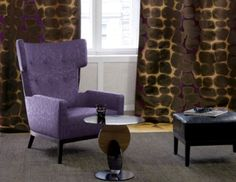 Drapery, Upholstery, Wallcoverings, Hardware and Trimmings Drapery, Curtains, Happy Colors, Timeless Elegance, Outdoor Fabric, Wingback Chair, Fabric Art, Modern Classic, Your Style