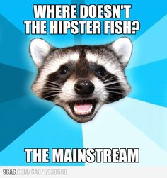 Where doesn't the hipster fish?