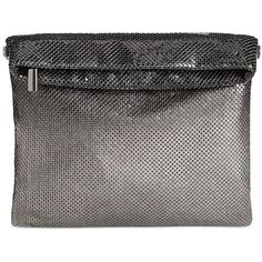 Inc International Concepts Ombre Mesh Foldover Clutch, ($59) ❤ liked on Polyvore featuring bags, handbags, clutches, black, chain strap purse, foldover purse, ombre purse, mesh purse and mesh handbag
