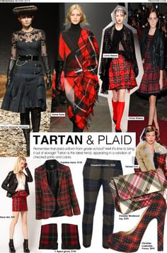 """Why tartan is always labeled a """"trend"""" and not a staple is beyond me.  :-)"""