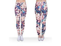 b4ab10cdbed Dámské barevné legíny s potiskem Yoga Leggings