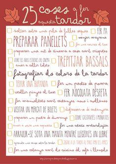 Com aprendre a aprendre: 25 coses a fer aquesta tardor  http://comaprendreaaprendre.blogspot.com.es/