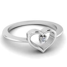 White Diamond Gifts In 950 Platinum | Stud Heart Ring | Fascinating Diamonds diamond gifts  #diamond rings  #platinum jewelry