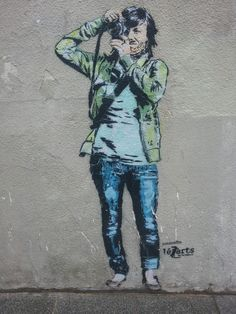 Stencil painting by janaundjs for Lezarts de la Bièvre near la Butte aux Cailles in Paris.None