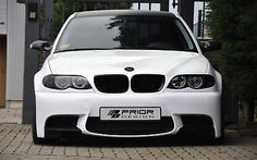 BMW E46 3 Series Coupe and Sedan E92 M3 Style Front Bumper 325i 330i 328i Lip | eBay