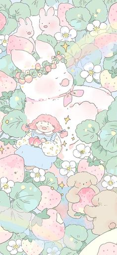Pin by 这软 on Girl Wallpaper in 2021   Cute cartoon wallpapers, Pink wallpaper anime, Wallpaper iphone cute