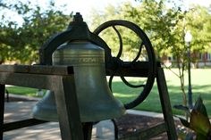 The Senior Bell used to sit on the porch of Ely Pepper Dormitory.  It was rung whenever a senior left the campus for the last time.