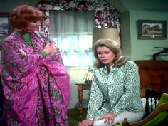 Pink lady Endora Bewitched, Agnes Moorehead, Elizabeth Montgomery, Pink Lady, Sari, Classy, Actresses, Elegant, Beautiful